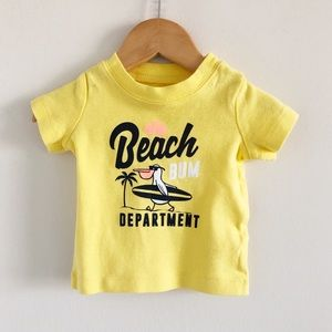 Carter's 100% Cotton Beach Bum Yellow Tee 3m